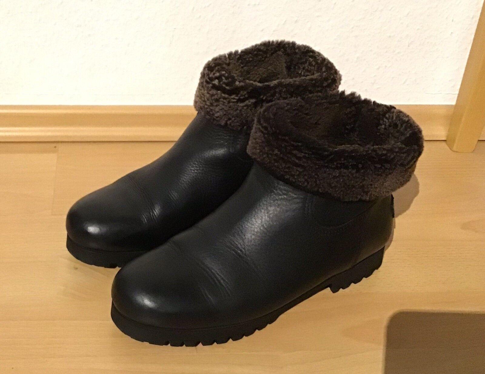 Shabbies Amsterdam Damen Stiefel Lammfell  Gr. 41 schwarz Stiefelette Stiefel