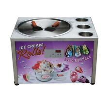 Countertop 45cm 18 Single Round Pan With 3 Tanks Fried Ice Cream Machine