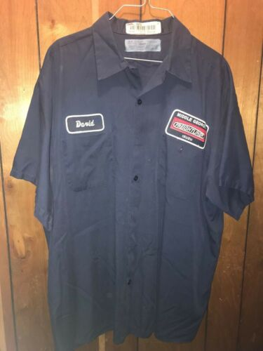 Mechanic Button Up Shirt Work Uniform Short Sleeve and hi-visility