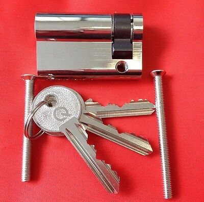Half Euro Cylinders all sizes. Any sizes can be keyed alike and extra keys