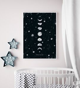 Phases Of The Moon Nursery Art / Picture / Print / Bedroom ...