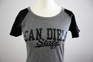 T-Shirt-San-Diego-State-SDSU-JanSport-M-grau-college-USA-California