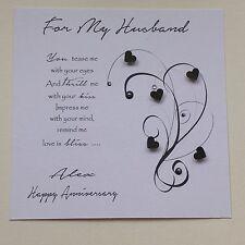 PERSONALISED Handmade BIRTHDAY ANNIVERSARY  CARD Husband Boyfriend Fiancé MODERN