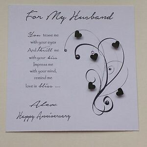 Image Is Loading PERSONALISED Handmade BIRTHDAY CARD Husband Boyfriend Fiance Male