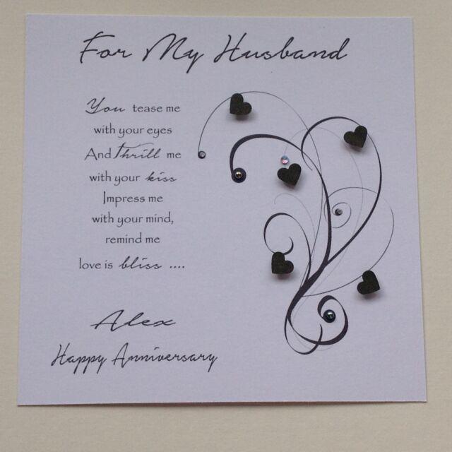 PERSONALISED Handmade BIRTHDAY CARD Husband Boyfriend Fiance Male