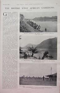 1902 Imprimé ~ Britannique Ouest Africain Garrisons Gambaga Patrol Canoë Outpost NWpJSPJY-08042610-209686608