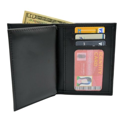 DEA Special Agent Police Badge Federal Style Recessed Double ID Leather Wallet