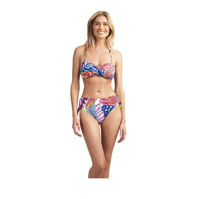NWT Trina Turk Garden Paisley Twist Bandeau Top /& Bikini Bottom Size 6,10