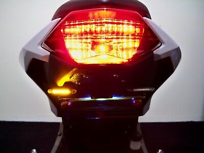 Kawasaki Ninja ZX6R SS LED Low Profile Fender Eliminator Kit Smoked Lens Amber Turn Signals