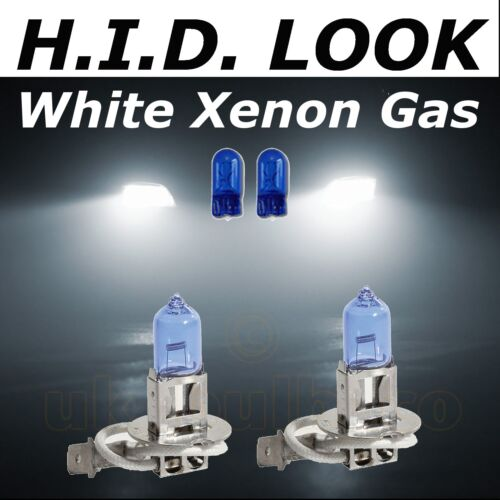 H3 Wire 501 55w White Xenon HID Look Fog Light Lamp Bulbs E Marked Road Legal