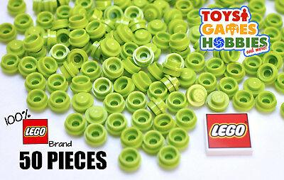 *NEW* LEGO 50x 1x1 Lime Green Round Plate Tile CapCity Creator Farm Plant Leaf