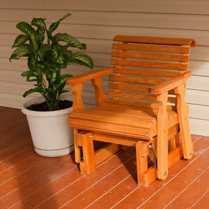 Details about Amish Heavy Duty 600 Lb Roll Back Pressure Treated Glider  Chair