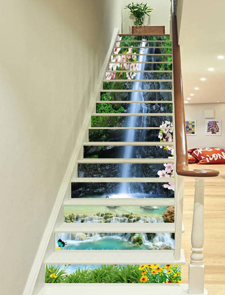 3D Blaume Schwan 363 Stair Risers Dekoration Fototapete Vinyl Aufkleber Tapete DE