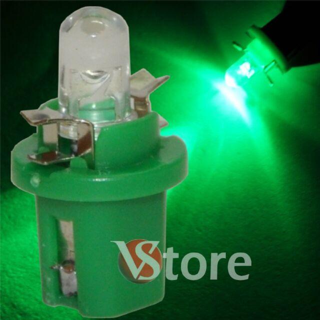 2 led T5 b 8,5 d Verde Leuchten Glühbirnen für Armaturenbrett Kombianzeige 12v
