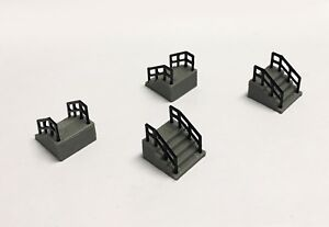 Outland-Models-Railway-Layout-Building-Entrance-Stairs-4-pcs-HO-Scale-1-87