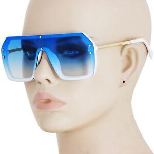 Men-039-s-CLASSIC-VINTAGE-RETRO-HIP-HOP-RAPPER-Style-SUN-GLASSES-White-amp-Gold-Frame
