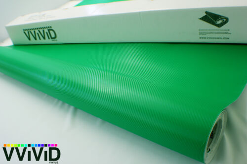 "Carbon Fiber Dark Green VViViD DGW5M01 5ftx5ft 60/""x60/"" Vinyl Wrap Air Release"