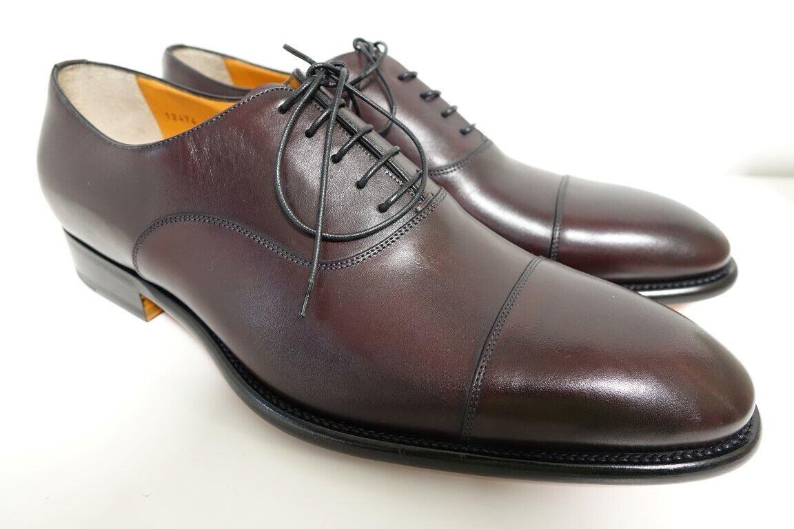 SANTONI Schuhe Herrenschuhe Businessschuhe - GR. 8 (42) - NEU ORIGINAL