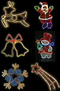 Natale-Grande-Corda-Luce-Decorazioni-Festive-Multi-Colore-al-chiuso-o-all-039-aperto