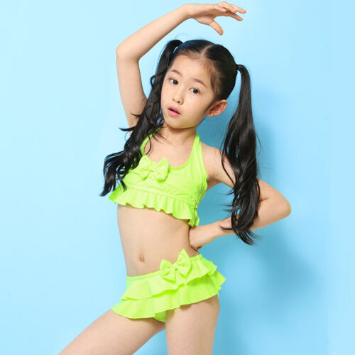 Cuat Lace Kids Baby Girls Bikini Set Swimwear Bathing Beachwear Swimsuit 2-6 Y