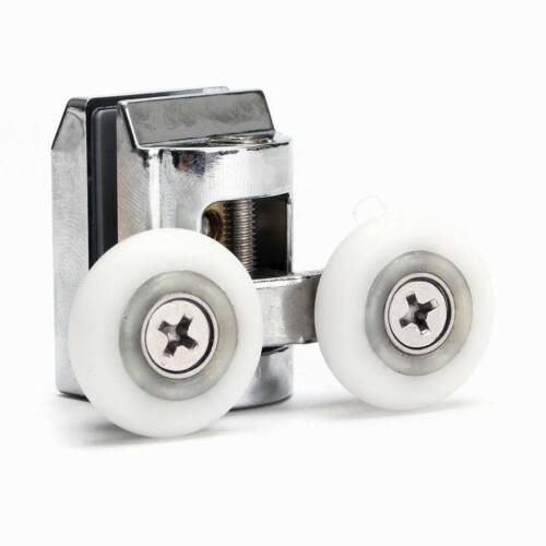 2 x Doppel Duschtür Top Rollen für Schiebedach Tür  Läufer Räder 23mm