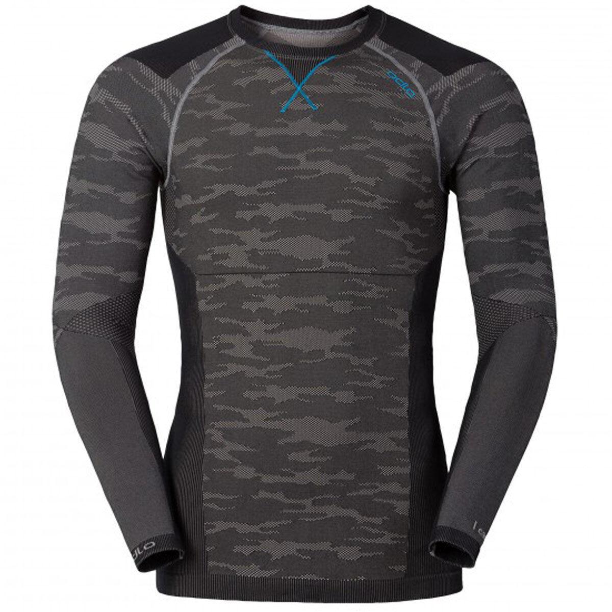 Odlo camisa L s crew Neck negrocomb Evolution cálido cálido cálido   170952-10447 Sport bajo camisa. e8f7fa