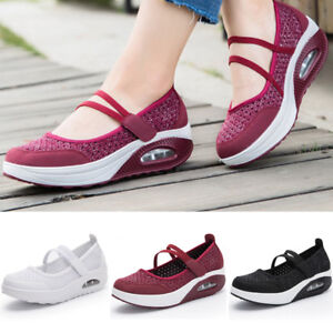 NEW-Womens-Platform-Athletic-Sport-Shoes-Casual-Sneakers-Running-Breathable-Mesh
