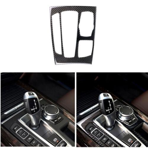 Carbon Fiber Gear Shift Panel Decor Cover Trim For BMW X5 X6 F15 F16 2014-2017