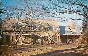 Flushing-Long-Island-New-York-Bowne-House-Fallen-Leaves-1950s-PC