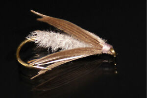 dry fly fishing flies deer hair qty//taille SEDGE CDC CERF mouche SERENITY