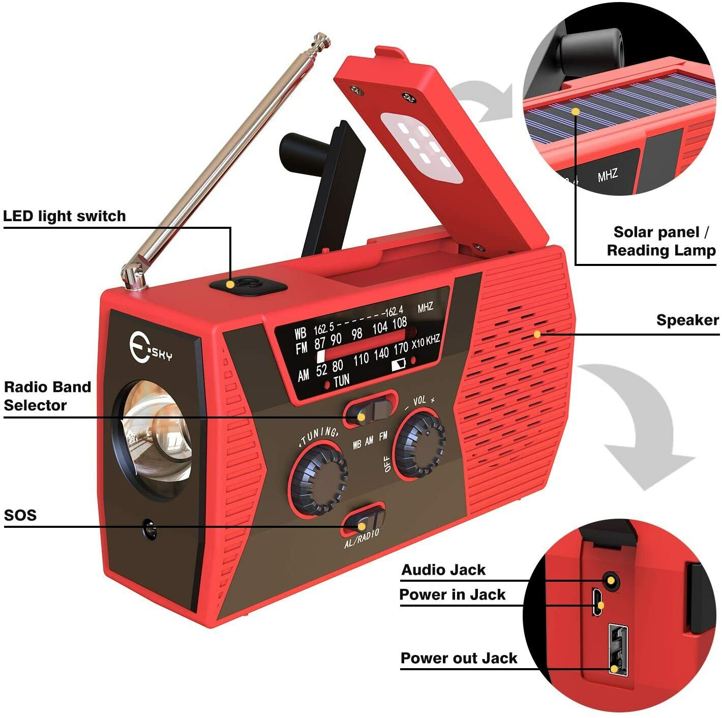solar powered radios