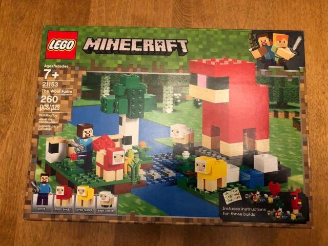 260pcs LEGO Minecraft 21153 The Wool Farm Age 7