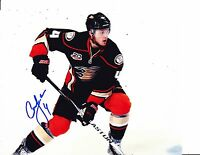 ANAHEIM DUCKS CAM FOWLER SIGNED IN ACTION 8X10