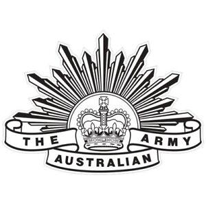 AUSTRALIAN ARMY RISING SUN BADGE 7TH PATTERN DECAL 100MM X 72MM   AUTHORISED   R