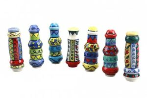 Colourful-Ceramic-Handpainted-Mexican-Style-Light-Blind-Pull-Toilet-WC-Bathroom