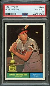 1961-Topps-BB-Card-240-Ron-Hansen-Orioles-ALL-STAR-ROOKIE-PSA-NM-MT-8