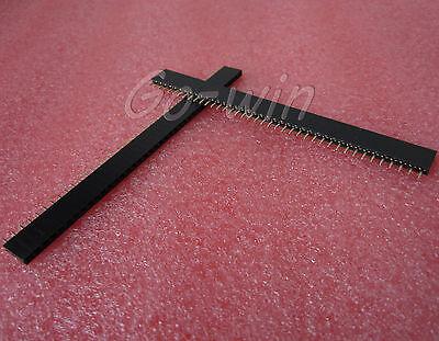 50Pcs 2.54mm 40 Pin Female Single Row Pin Header Strip High QUALITY