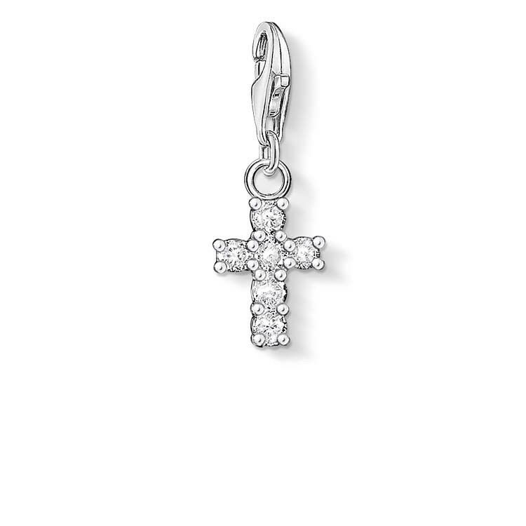 Genuine Thomas Sabo Charm Club Small CZ Cross Charm CC054