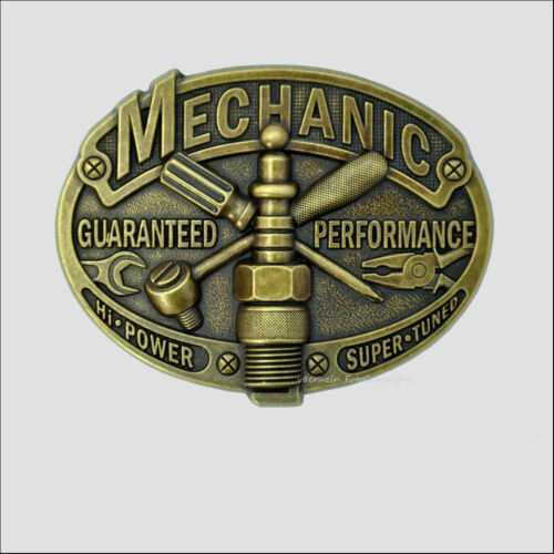 Atelier Garage belt buckle boucle de ceinture outils mécanicien moto voiture 142