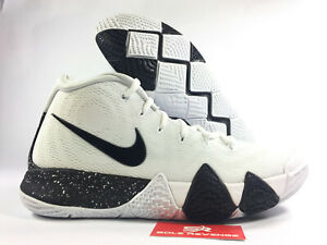 d34fe299635c NEW Nike Air KYRIE 4 Irving Mens White Black Basketball Shoes 296100 c1