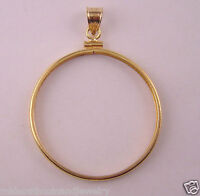 Coin Bezel U.s.old Silver Dollar Reeded Edge 14k Gold Filled Soldered Bail