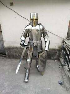 New Medieval Knight Suit of Templar Armor Steel Full Body Armour Suit