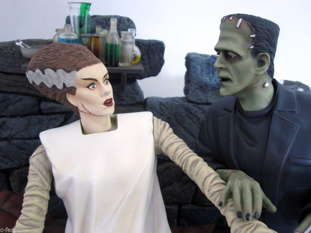 Avbrutet 2012 MOEBIUS 1  8 Bruden och Frankensteins modellllerlkit oöppnade