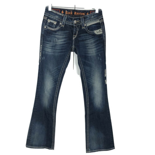Rock Revival Alanis Boot Cut Dark Wash Jeans Women