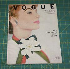November Vogue 1952 Rare Vintage Vanity Fair Fashion Design Collection Magazine