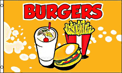 Burgers Business Message 3x5 Polyester Flag NEW