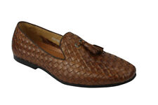 ade768edb3d item 5 Mens Tan Navy Real Basket Woven Leather Flat Tassel Loafer Vintage  Driving Shoes -Mens Tan Navy Real Basket Woven Leather Flat Tassel Loafer  Vintage ...