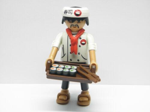 Playmobil 9332 Figures Series 13 Japon Japan Chef Japonnais Sushi PF944