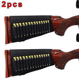 2 X 14 Rounds Buttstock Rifle Shell Bullet Holder Stock Ammo for .22 CAL 10//22