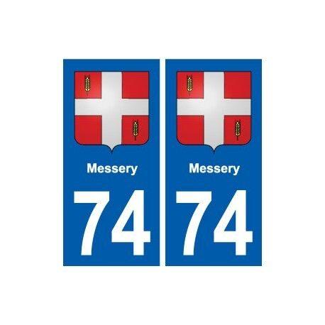 74 Messery blason autocollant plaque stickers ville droits
